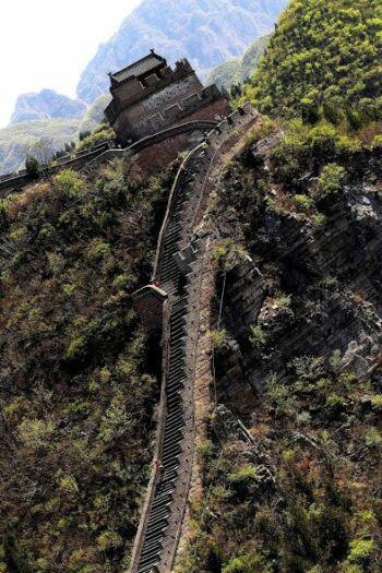 Photo de la Grande Muraille de Chine de travers